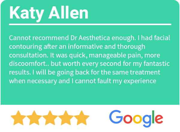 5 Star google review Dr aesthetica